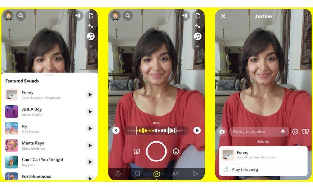 Nouveautés réseaux sociaux : Snapchat musique